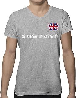 Great Britain Soccer Jersey Men's V-Neck T-Shirt