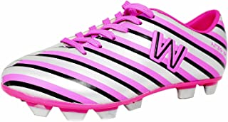 WALSTARUSA Silver Soccer Cleats for Juniors