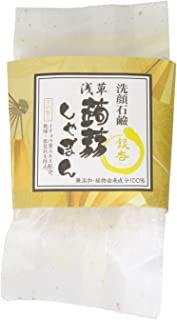 浅草 蒟蒻しゃぼん ぷるぷる 洗顔石鹸 石鹸 保湿 泡立ちソープ 内容量:100g (銀杏 ぎんなん)