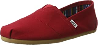 red colour casual shoes
