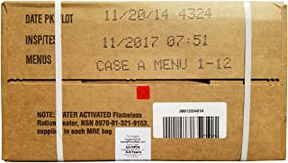 Genuine Military MRE Case (Meal Ready to Eat) Ultimate Inspection By Ammo Can Man Inspect Date 11/2017 or newer (Case