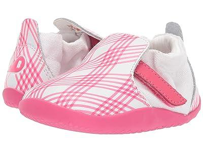 Bobux Kids Step Up Xplorer Aktiv Gingham (Infant/Toddler) (Pink/White) Girl
