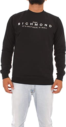 John Richmond rma19287fesm Sweat-Shirt Homme Noir XL