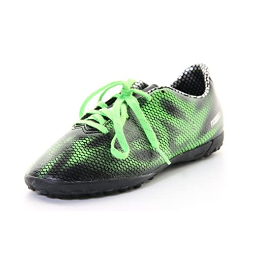 Details about Boys Adidas F10 Black Green Astro Turf Soccer Football Boots Trainers Size 10 6