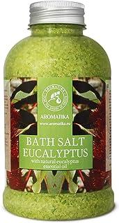 Eucalyptus Bath Salt w/ Natural Eucalyptus Essential Oil 600g - Best for Good Sleep - Stress Reduction - Beauty - Bathing...