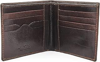 Italian Leather Classic Bifold Credit Card Wallet, Black