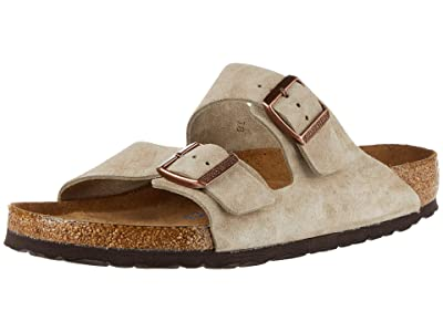 Birkenstock Arizona Soft Footbed Suede SINGLE SHOE (Taupe Suede) Shoes