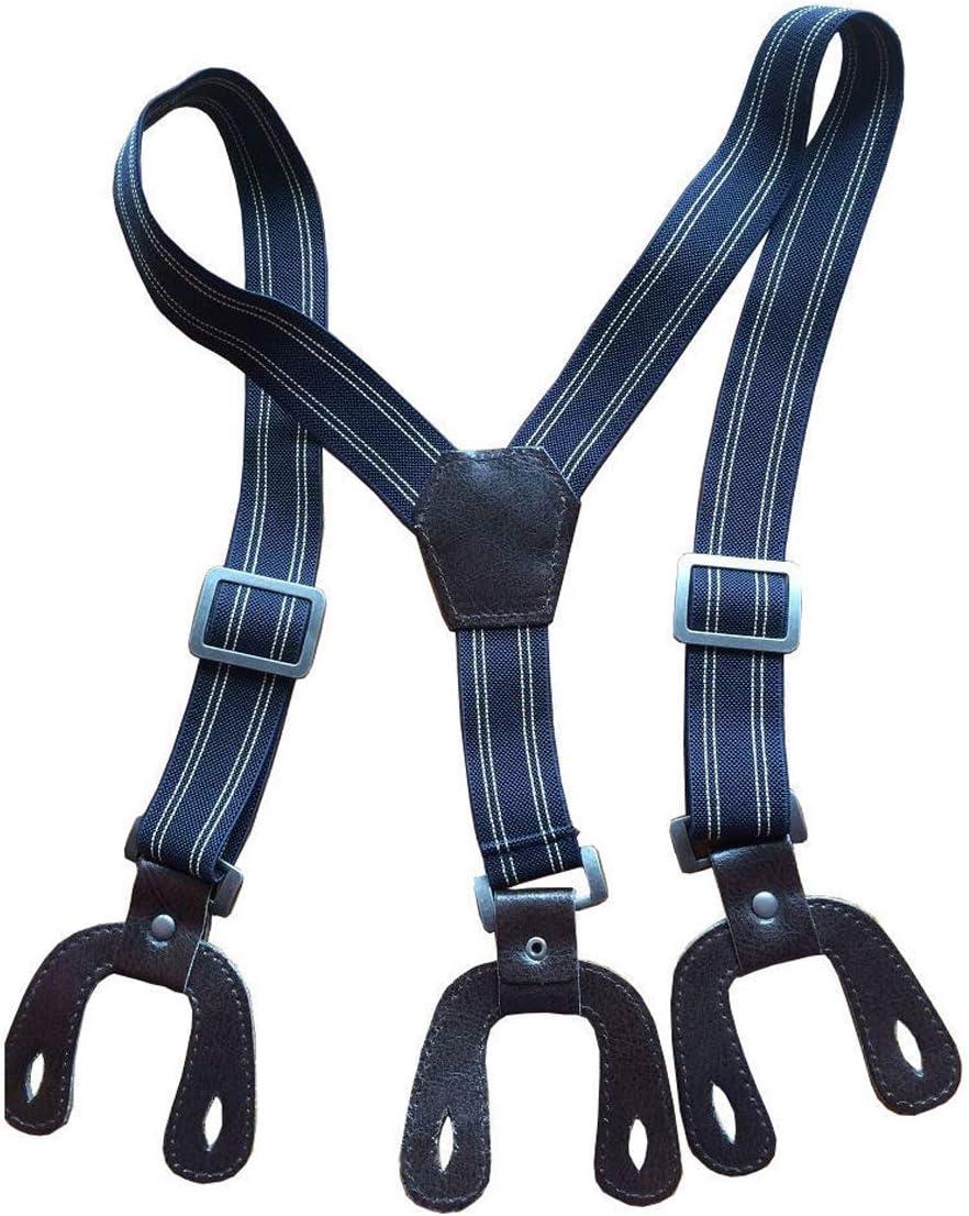 Trimming Shop Boys Suspender Braces - Adjustable - Dark Brown Button Holes - 2.5cm Wide