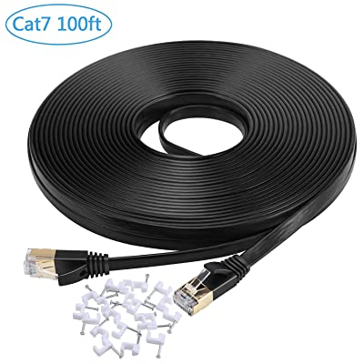 Cat 7 Ethernet Cable 100ft,Flexible and High Sp...