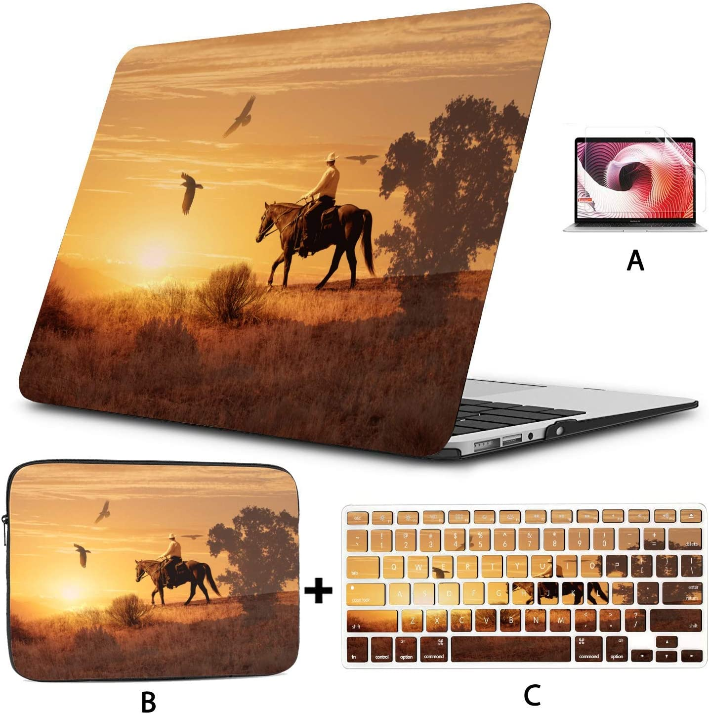 Hard Shell with Sleeve Bag Indefinitely for Cowboy Fort Worth Mall Case A Soft Laptop Riding