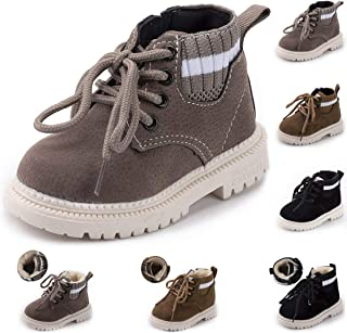 Tutoo Boy's Girl's Winter Snow Boots Warm Waterproof Anti-Slip Anti Collision Outdoor Hiking Boots Classic Martin Boots(To...