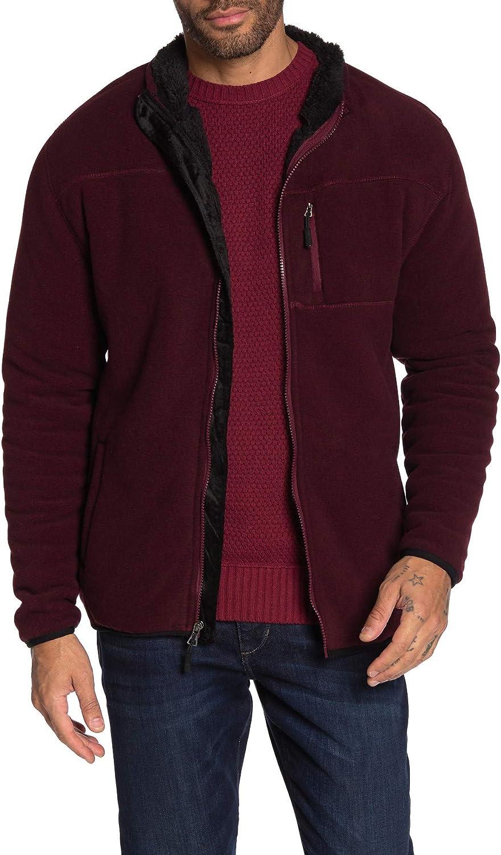 Weatherproof Mens Jacket Small Full Zip Fleece Pocket-Front Red S
