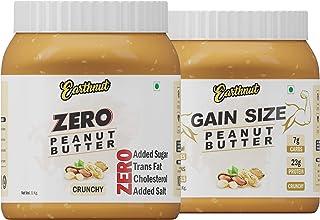 Earthnut Peanut Butter Combo 2Kg (Zero Crunchy + Gain Size Crunchy)(Gluten Free | Non-GMO | Vegan)