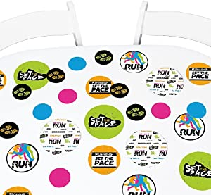 Big Dot of Happiness Set the Pace - Running - Track Party Giant Circle Confetti - Cross Country or Marathon Party Decorations - Large Confetti 27 Count