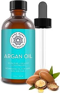Sponsored Ad - Pure Body Naturals Organic Argan Oil for Skin, Face, Hair & Nails, 4 Fluid Ounces