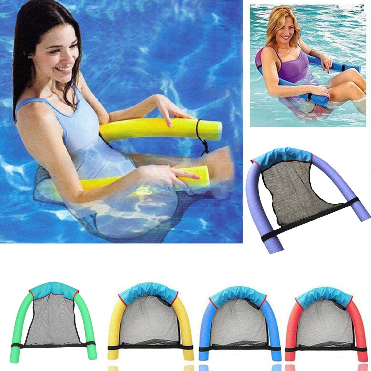 Floating Noodle Sling Mesh Chair Pool Swim Seat Hammock Swimming Accessories NEW