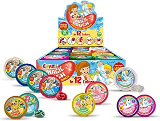 Craze GmbH inteligentna superplastelina dla dzieci Craze Magic Dough, magiczna plastelina dla dzieci, zestaw 3 sztuk, 3 x ...