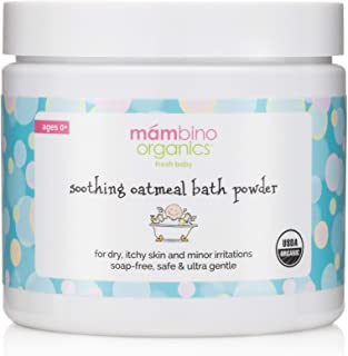 Mambino Organics Soothing Oatmeal Bath - Natural Colloidal Oatmeal Powder 4 Ounce