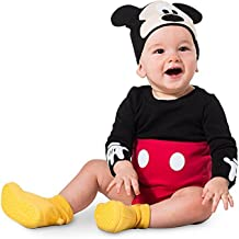 Disney Mickey Mouse Costume Bodysuit Set for Baby Size 3-6 MO Red