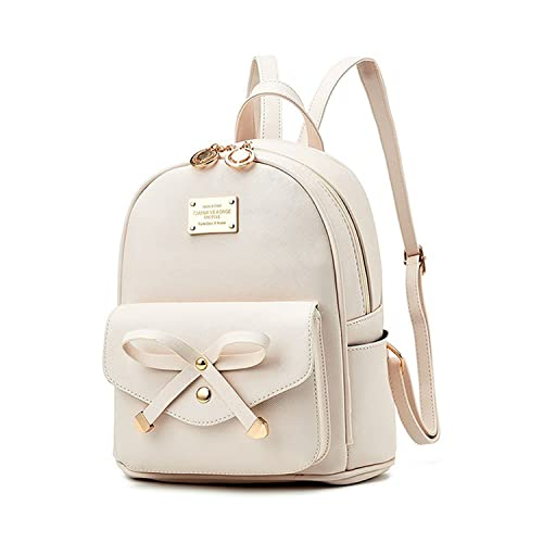 fe7672b130 Girls Bowknot Cute Leather Backpack Mini Backpack Purse for Women