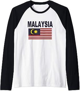 Malaysia Flag TShirt Cool Malaysian Malay Flags Men Women Raglan Baseball Tee