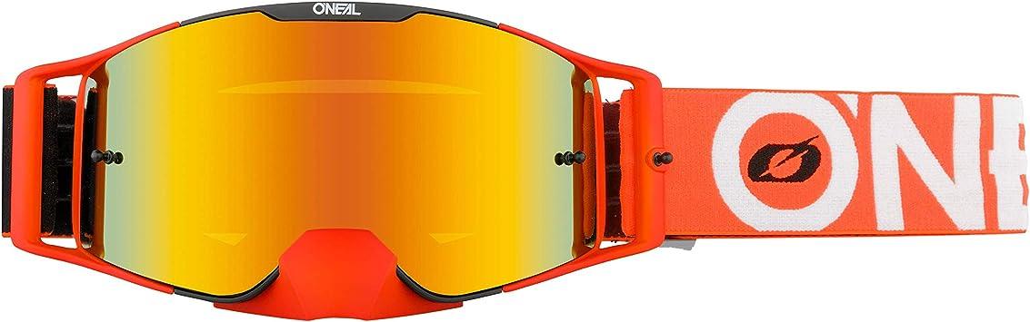 O Neal Fahrrad Brille Motocross Brille Mx Mtb Dh Fr Downhill Freeride Verstellbares Band Optimaler Komfort Perfekte Belüftung B 30 Goggle Unisex Schwarz Orange Verspiegelt One Size Bekleidung