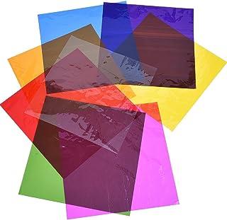 Outus Cello Sheets Cellophane Wraps 8 x 8 Inch 8 Colors 104 Pieces
