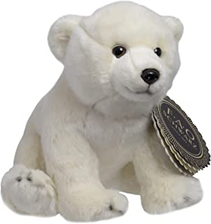 """FAO Schwarz 10"""" Polar Bear Plush Stuffed Animal Toy, Ultra Soft and Snuggly Doll for Creative and Imagination Play, for Boys, Girls, Children Ages 3 and Up, Playroom & Nursery Pretend Zoo Pet"""