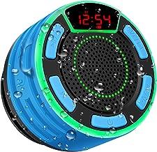 Altavoz Bluetooth, moosen IPX7 Impermeable Altavoz de Ducha Bluetooth Inalámbrico Portátil con FM Radio, Pantalla LED, TWS y Espectáculo de Luces, HD Deep Bass Speaker para Baño Piscina Playa Outdoor