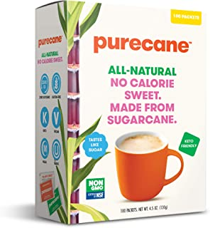 Purecane Zero Calorie Sugar Substitute | Made from All Natural Sugar Cane | Diabetes-friendly | Keto-friendly | Gluten-fre...