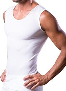 Dr.WALT - Men's Singlet Vest Produced with Technical Sports Yarns for Everyday use, Thermal, Ultralight and Sleeveless