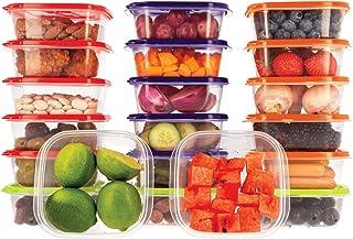 Oursson Coffret de Conservation des Aliments - Multi-usages - Ensemble de 20 contenants en Plastique Transparents sans BPA...
