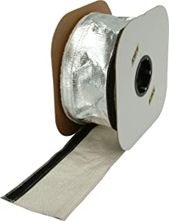 """Design Engineering 010487B50 2-1/2"""" x 50ft Spool Aluminized Sleeving for Ultimate Heat Protection (with Hook and Loop Clos..."""