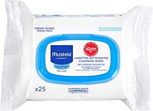 Mustela Cleansing Wipes, Baby Wipes, Ultra Soft, Lightly Scented, with Natural Avocado Perseose and Aloe Vera, 1-Pack or 3-Pack
