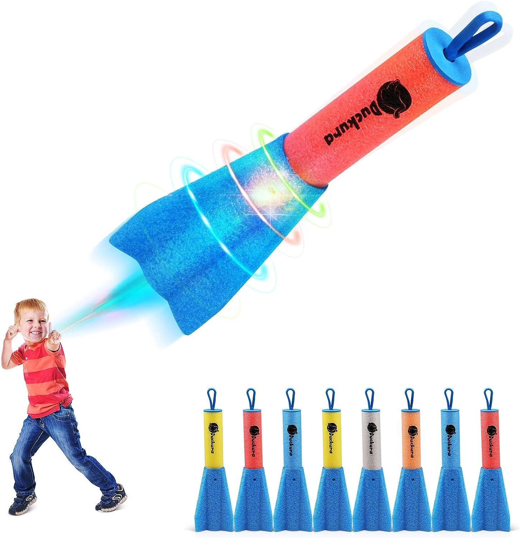 Duckura Slingshot Dallas Mall Finger High order Rockets 8 Foam Pack Rocket LED Launche