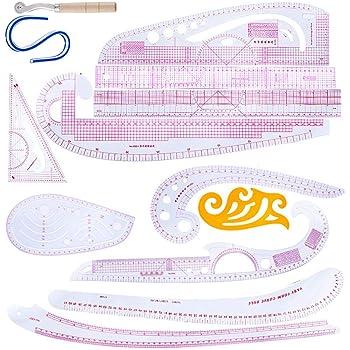 KKmoon 7pcs Multi-fonction Couture Robe R/ègle Ensemble Outil de Mesure Pour Couture Tailleur V/êtements Design Fabrication D/'outils