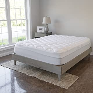 VirtueValue Mattress Pad with Fitted Skirt - Extra Plush Topper Found in Luxury Hotels - Manufacturer Defects (King)