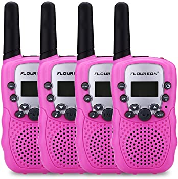 4 Pack floureon 22 Channel Two Way Long Range Walkies Talkies