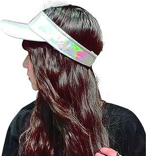 Etncy Life Women Sun Visor Caps Party Bling Sun Visor Ball Cap Visors Hat for Golf Tennis Running Silver