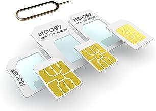 SIM Adapter Kit Mix 3 Pack (Micro + Nano) 1x Adapter Nano SIM to micro SIM and 1x adapter Nano SIM to Standard SIM and 1x adapter Micro SIM to Standard SIM incl. 1x Simnadel Eject Pin
