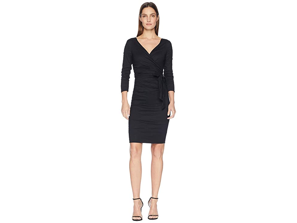 Nicole Miller Wrap Dress (Black) Women