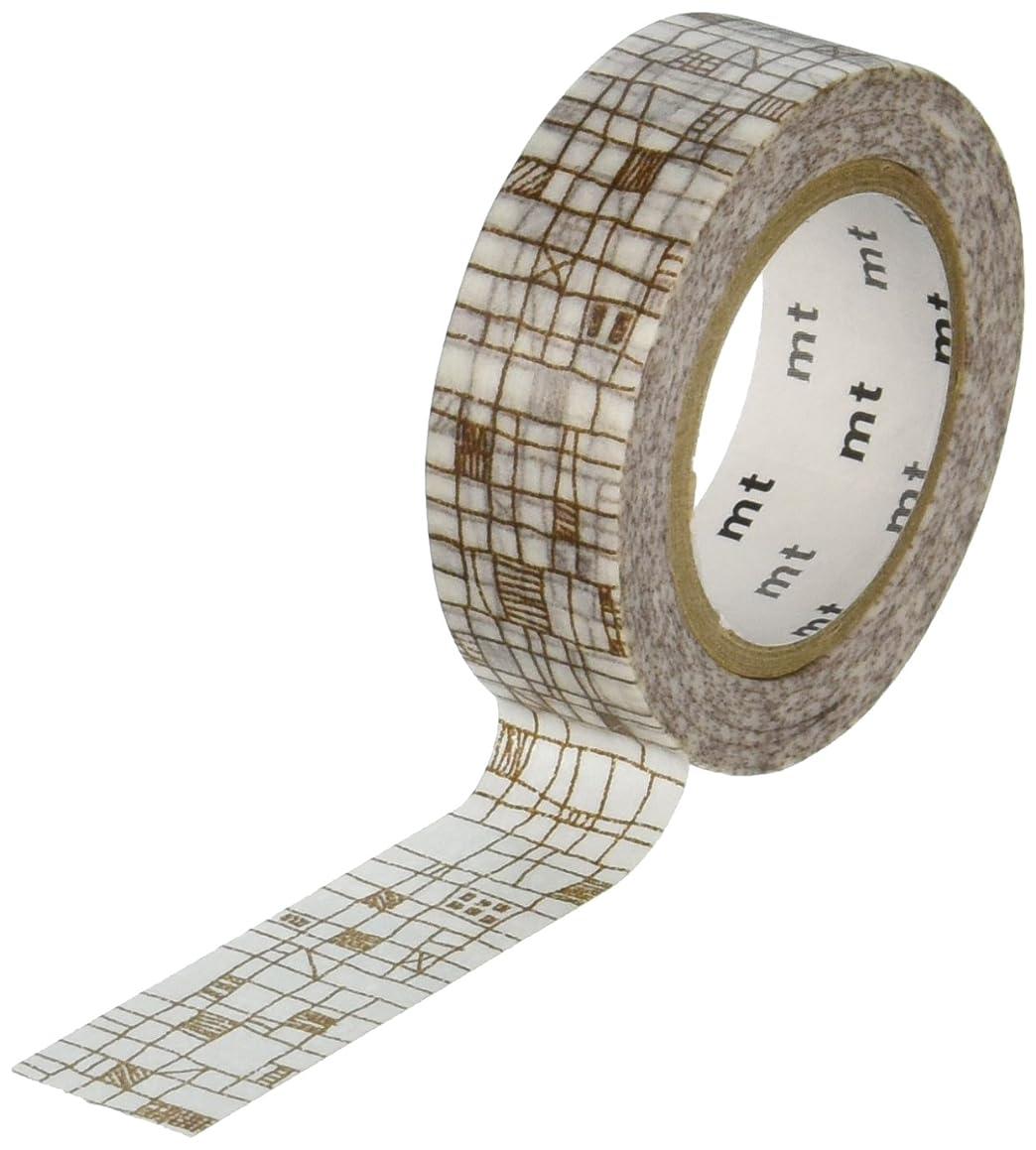 MT Washi Masking Tape, 1P Deco, 15mm x 10m, Line Pbrown (MT01D292)