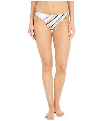 Roxy Print Beach Classics Moderate Bikini Bottoms (Bright White/Oriental Stripe) Women