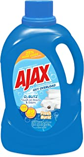 Oxy Overload Liquid Laundry Detergent by Ajax | Odor & Stain Eliminator | Works in All Standard and HE Washing Machines | Concentrated Laundry Soap | Hot & Cold Water | Fresh Burst Scent |134 Ounces