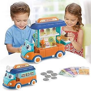 CooElc EylbKey Ice Cream Truck, Pretend Play Food Truck...