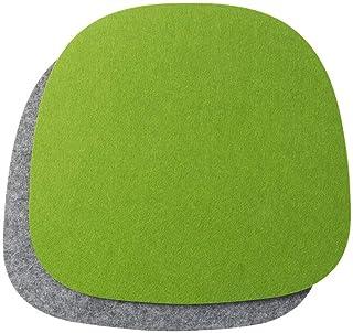 luxdag Cojín de asiento acolchado bicolor, juego de 2 unidades (forma y color a elegir) para sillas, bancos, taburetes, cojines de fieltro