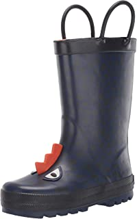 Kids Boy's Buddy Rubber Rain Boot
