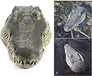 Volwco Alligator Head Decoy & Pond Float,Outdoor Water Solution Floating Crocodile Head Garden,Pool Alligator Head Art Decor for Goose,Predator,Heron,Duck Control,33x15.5x7.5cm