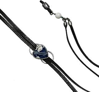 TAMARUSAN Leather Strap Eyeglass Cord Onyx Eyeglasses Holder