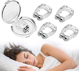 【2021最新進化版】いびき防止グッズ ランキング いびき対策グッズ 磁気鼻呼吸クリップ 水洗い可 鼻呼吸促進 呼吸改善 口呼吸防止 睡眠補助具 男女兼用 4個セット